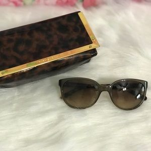 TORY BURCH Grey & Tortoise Cat Eye Sunglasses